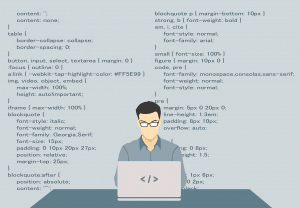 איש ומחשב נייד